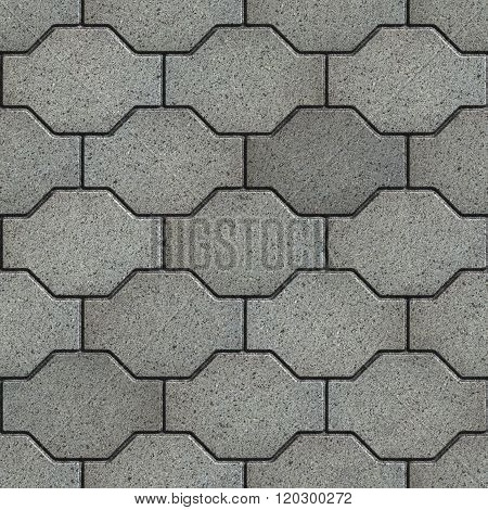 Gray with the Effect of Marble Wavy Paving Slabs.
