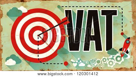 VAT. Poster in Flat Design. Business Concept.