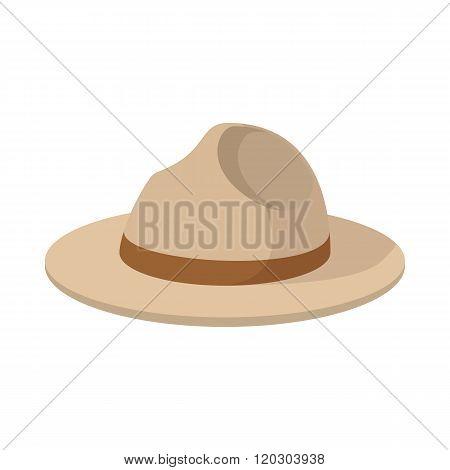 Farmer hat icon, cartoon style