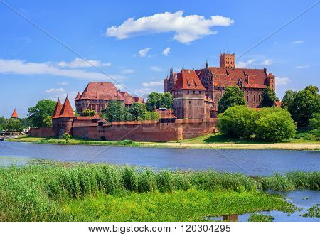 The Castle Of The Prussian Teutonic Knights Order In Malbork, Poland