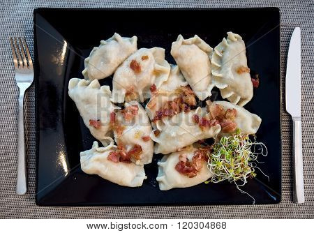 Traditional Polish Pierogi Stuffed Dumplings