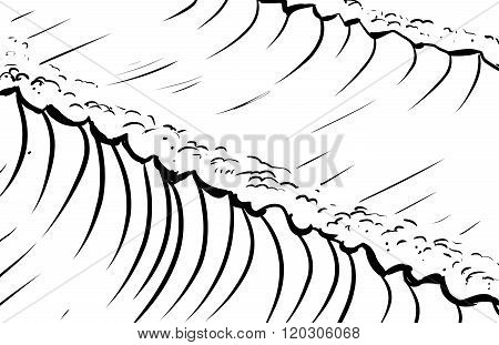 Outlined Tidal Waves Background