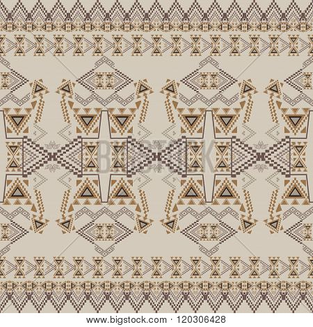 Vector Seamless Texture. Tribal Geometric Striped Pattern