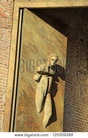 Rome, Italy - December 21, 2012: Basilica Santa Maria Degli Angeli E Dei Martiri