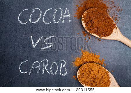 Carob and cocoa powder
