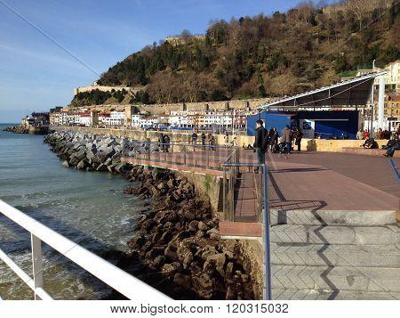 San Sebastian harbour, Basque country in Spain