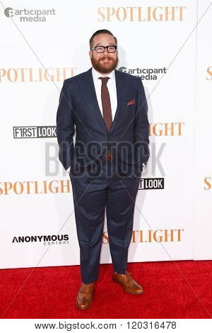NEW YORK-OCT 27: Actor Michael Cyril Creighton attends the 'Spotlight' New York premiere at Ziegfeld Theatre on October 27, 2015 in New York City.