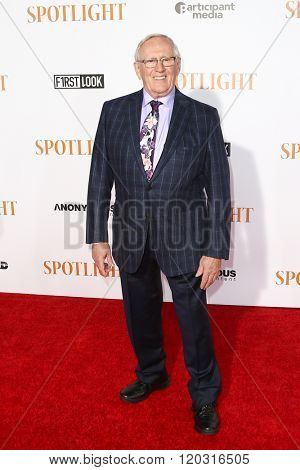 NEW YORK-OCT 27: Actor Len Cariou attends the 'Spotlight' New York premiere at Ziegfeld Theatre on October 27, 2015 in New York City.