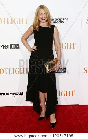 NEW YORK-OCT 27: Actress Patricia Clarkson attends the 'Spotlight' New York premiere at Ziegfeld Theatre on October 27, 2015 in New York City.