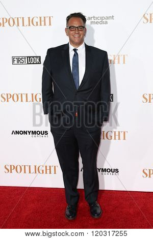 NEW YORK-OCT 27: Producer Michael Sugar attends the 'Spotlight' New York premiere at Ziegfeld Theatre on October 27, 2015 in New York City.