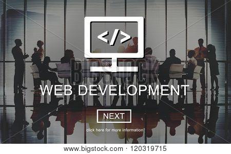 Web Development Javascript Process Software Concept