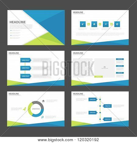 Blue green presentation templates Infographic elements flat design set,annual report,flyer,brochure templates set