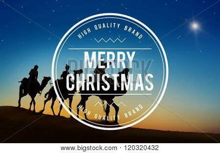 Merry Christmas Christianity Holiday Winter Religion Concept