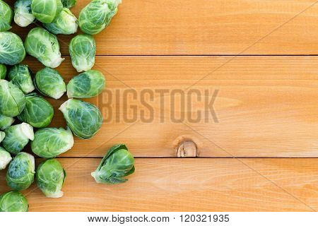 Fresh Farm Brussels Sprouts With Copy Space