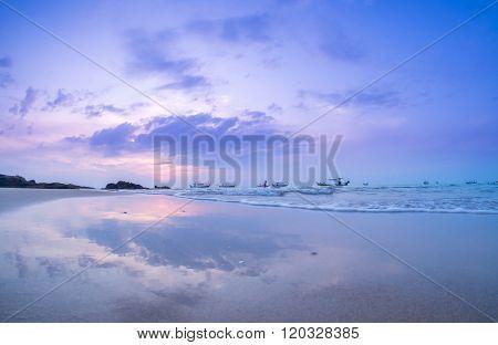 Khoa Lak beach in the morning light, Phang-Nga Province, Thailand
