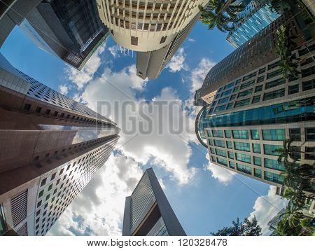 Singapore financial district view