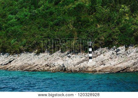 Lighthouse on a mountain, Montenegro, Adriatic sea