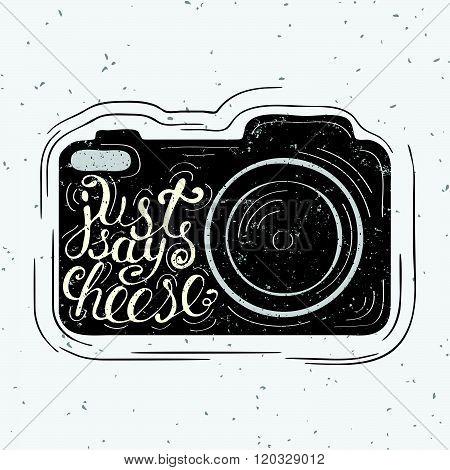 Lettering On Vintage Old Camera
