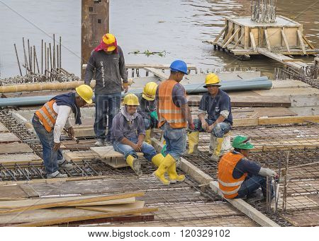 Group Of Construction Workers In Guayaquil Ecuador