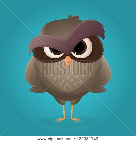 angry cartoon owl