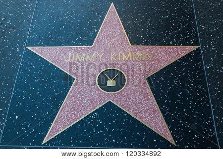 Jimmy Kimmel Hollywood Star