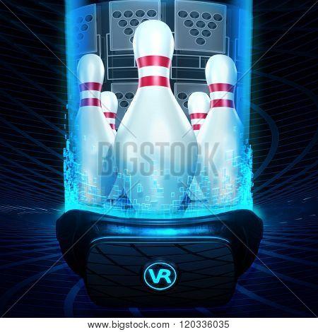Virtual Reality VR Bowling