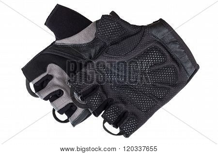 Pair Of Athletic Gloves Isolated On White