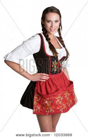 Woman Wearing Dirndl