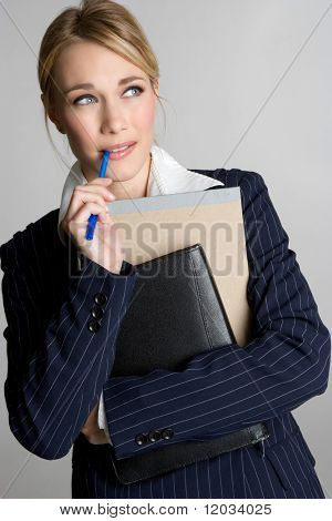 Confused Businesswoman