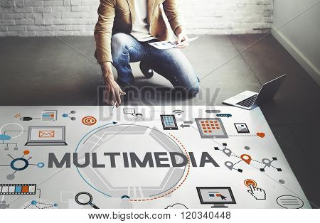 Multimedia Technology Content Creative Digital Concept