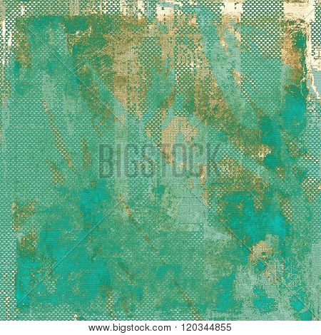 Vintage spotted textured background. With different color patterns: yellow (beige); brown; green; blue; cyan