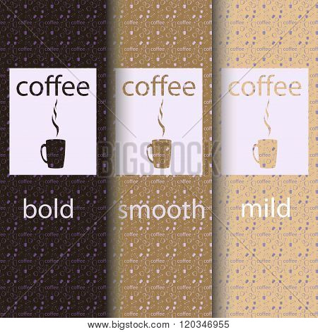 Vector take away coffee packaging templates and design elements for coffee shops - cardboard cups wi