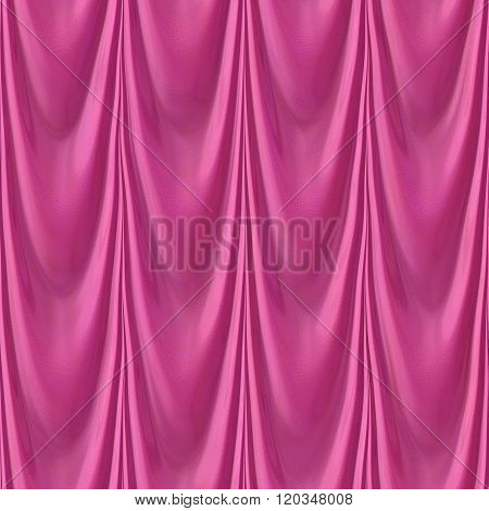 Pattern Of Seamless Pink Drapery