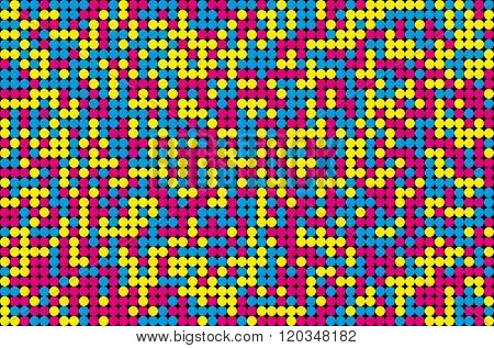 Abstract Mosaic Background From Cmyk Colors