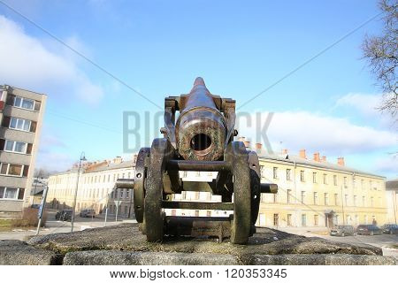 Cannon Of 19Th Century In Daugavpils Fortness