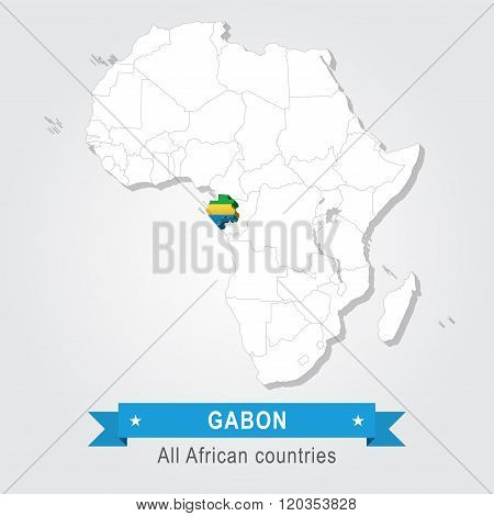 Gabon. All the countries of Africa.