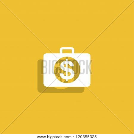 Financial Icon. Flat Design Style.