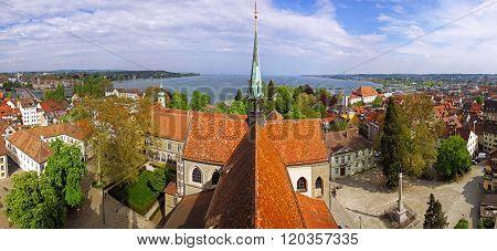 Panoramic View Of Konstanz City (germany) And Town Of Kreuzlingen(switzerland)