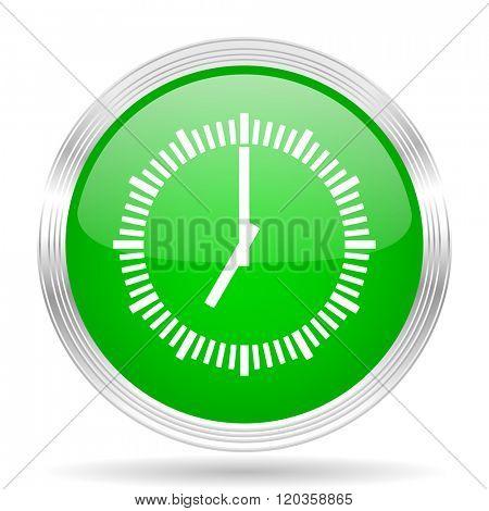 time green modern design web glossy icon