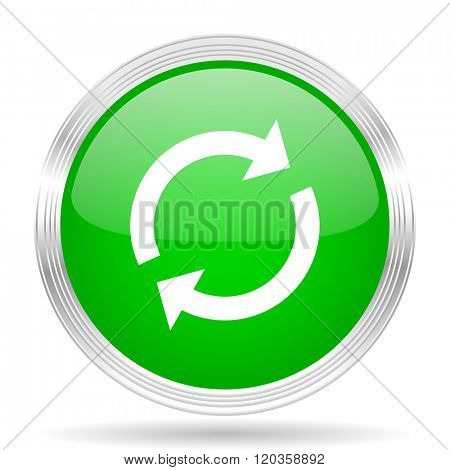reload green modern design web glossy icon