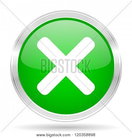 cancel green modern design web glossy icon