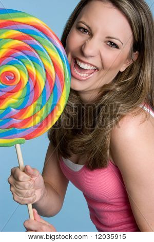 Giant Lollipop Girl