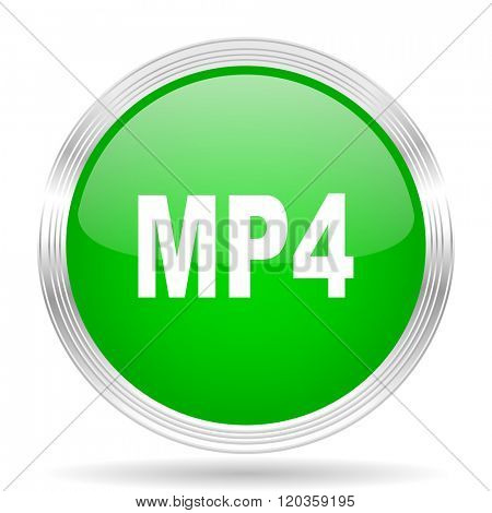 mp4 green modern design web glossy icon