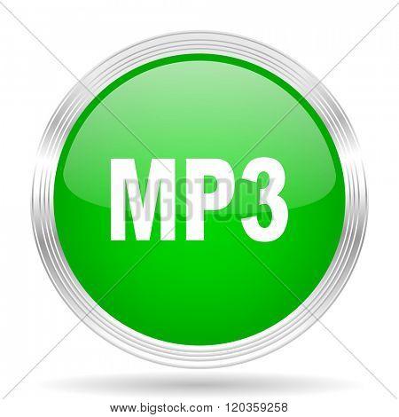 mp3 green modern design web glossy icon
