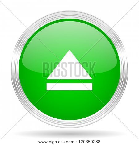 eject green modern design web glossy icon