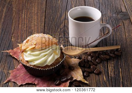 Cake And Coffee Cup