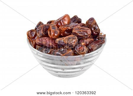 Date Fruit In Glass Bowl