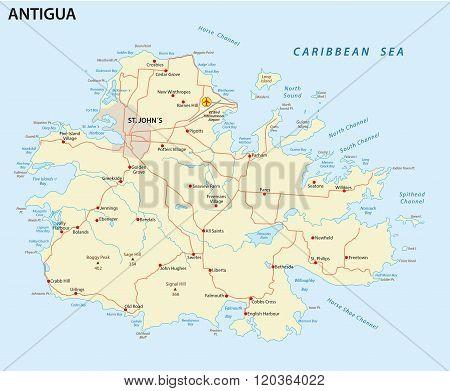 Antigua Road Map
