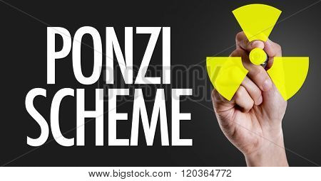 Hand writing the text: Ponzi Scheme