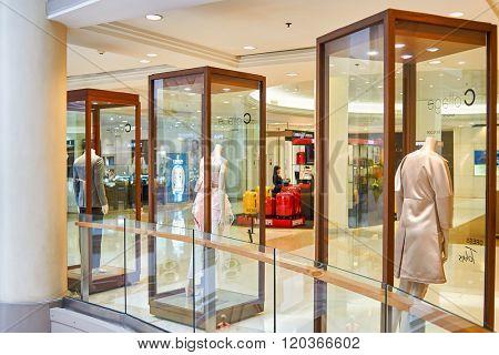 BANGKOK, THAILAND - JUNE 20, 2015: shopping center interior. Shopping centers such as Siam Paragon, Central World Plaza, Emperium, Gaysorn and Central Chidlom become shopping Mecca for shopaholics